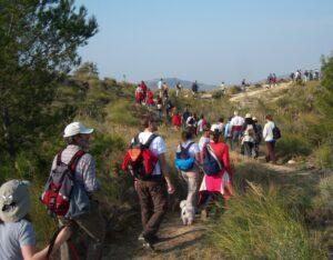 Agrupación senderismo en Rotary