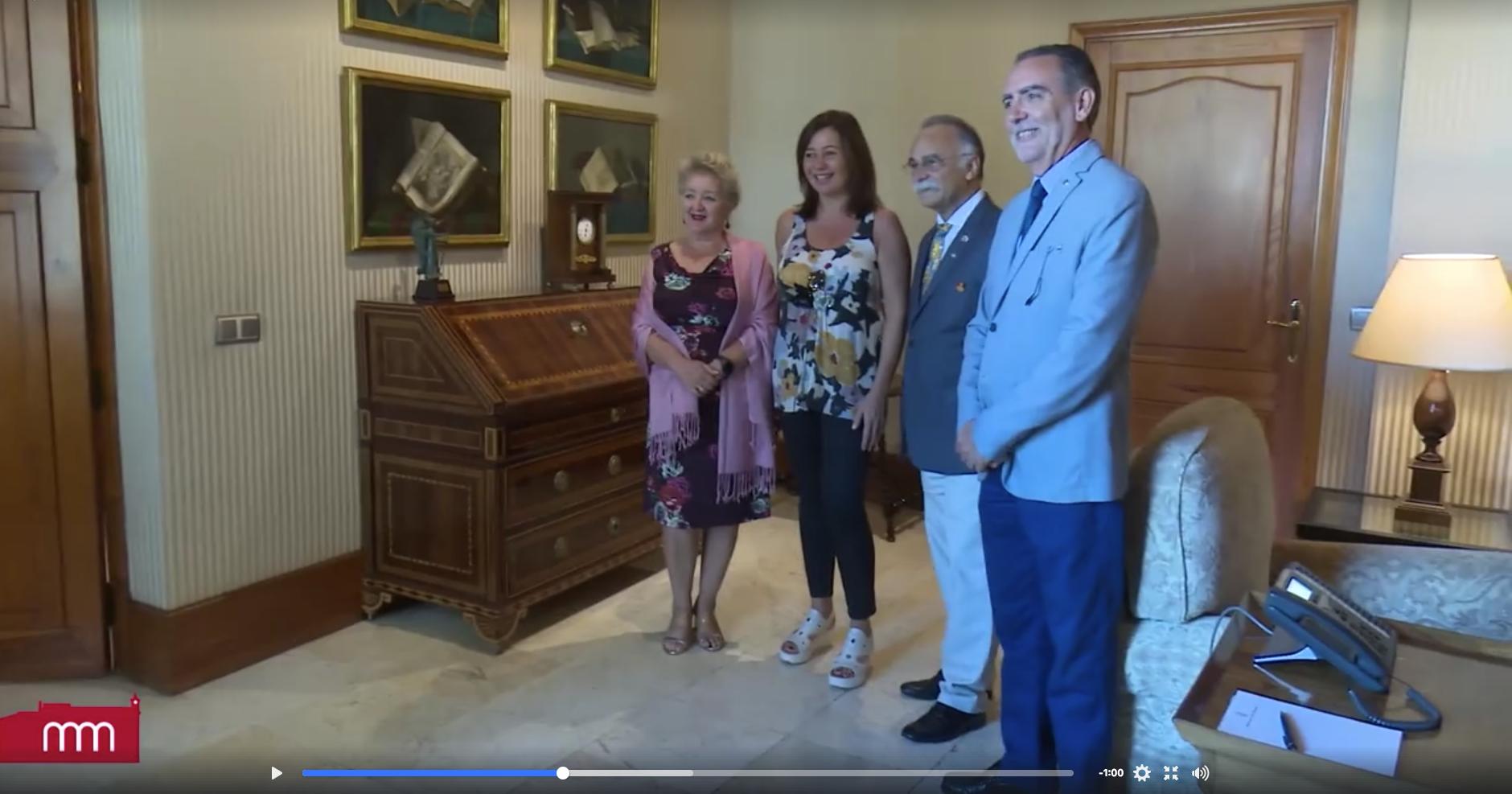 Luis Santos con la presidenta de Islas Baleares