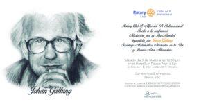 Conferencia John Galtung