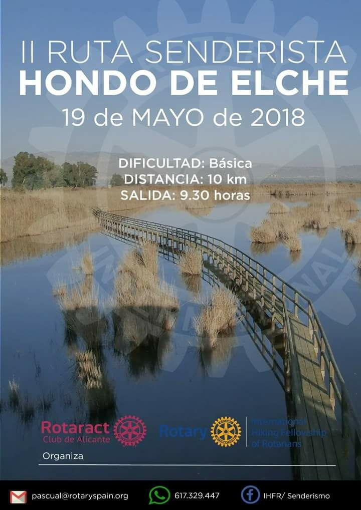 Evento de senderismo en el Hondo de Elche