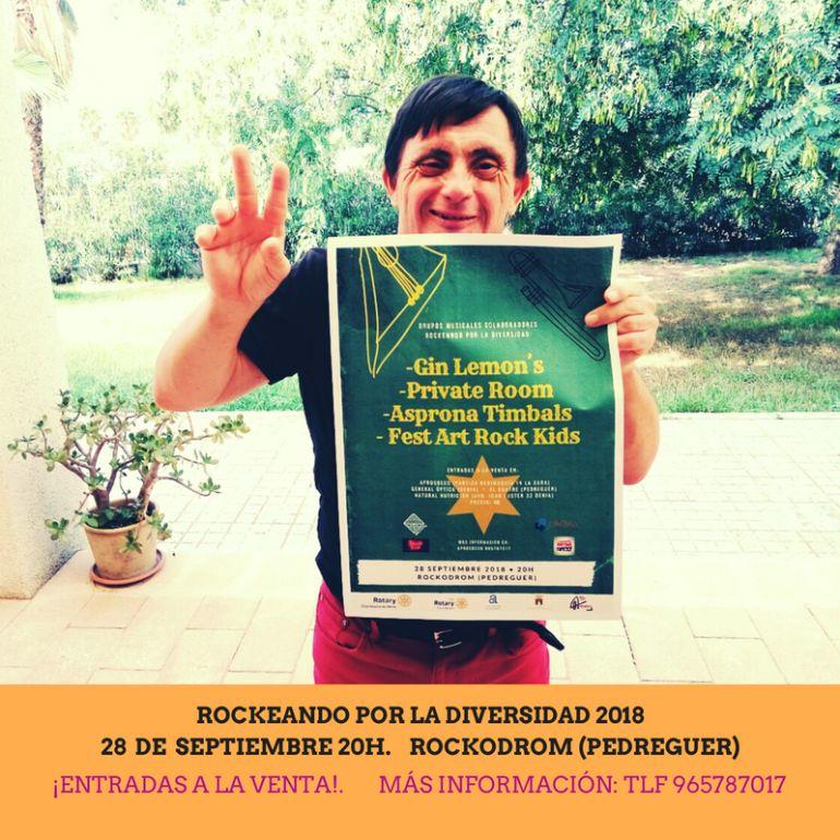 Organizado por el Rotary Club Dénia, Aprosdeco ultima la I edición de 'Rockeando con la diversidad'