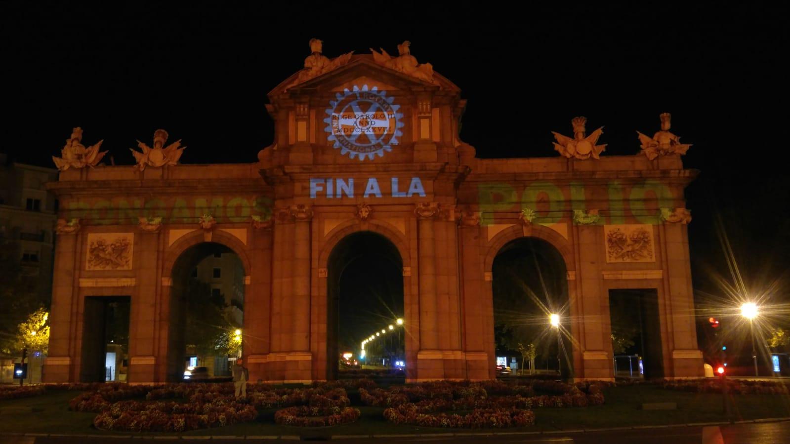 La Puerta de Alcalá se solidariza con la lucha contra la Poliomielitis