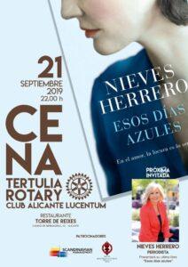 Conferencia en RC Alicante Lucentum de Nieves Herrero