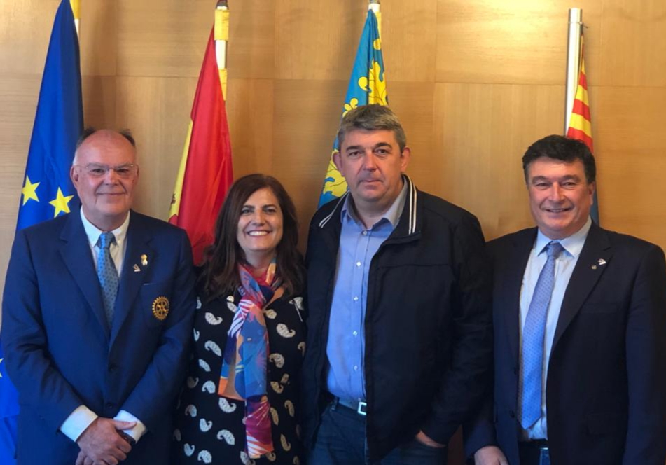 Visita Arturo Alagón al RC Guardamar