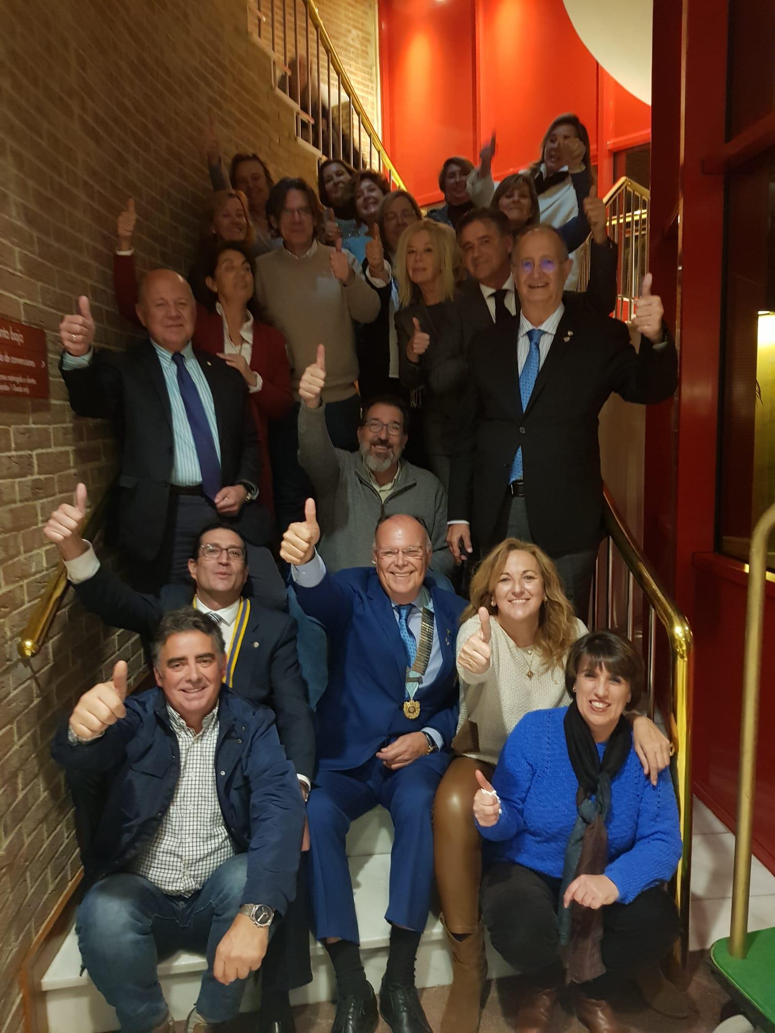 Visita del Gobernador al RC Ronda Serranía