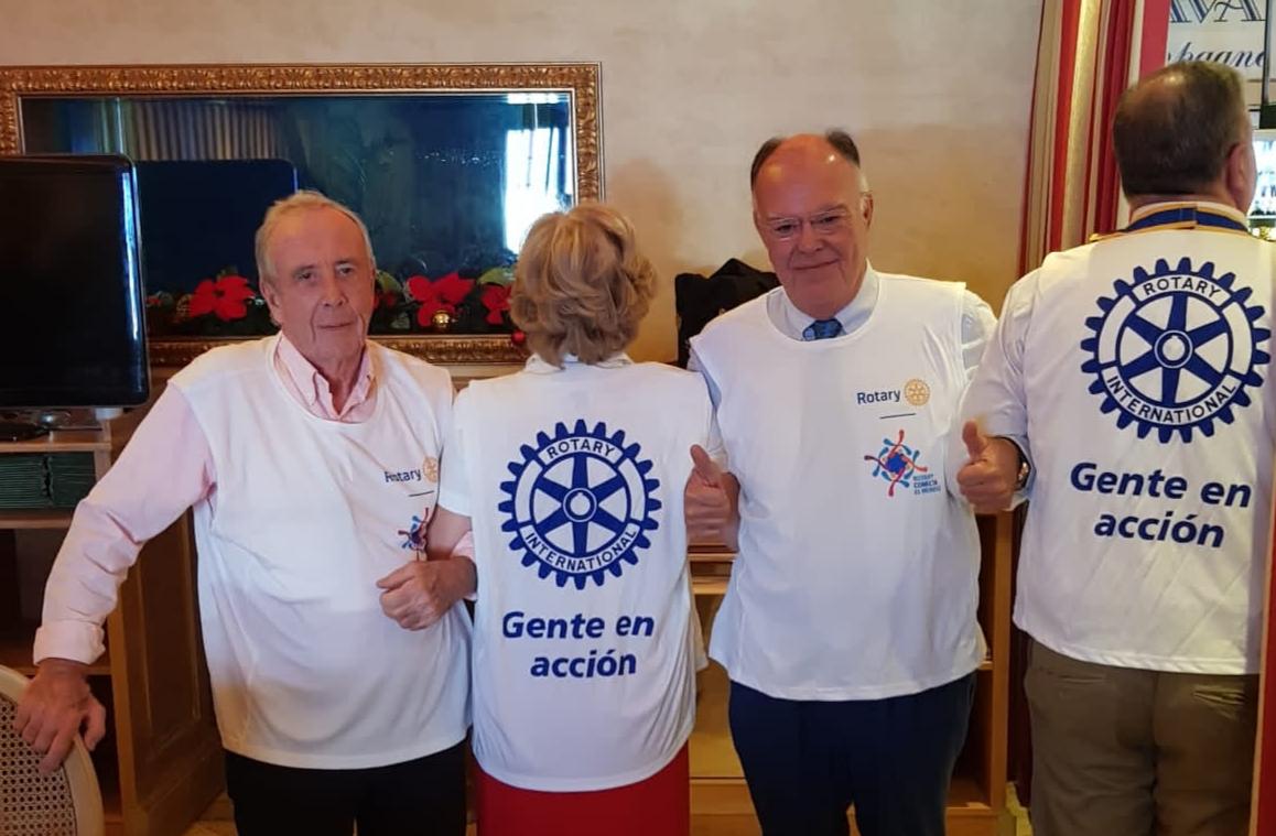 Visita de Arturo Alagón a RC Mijas Internacional