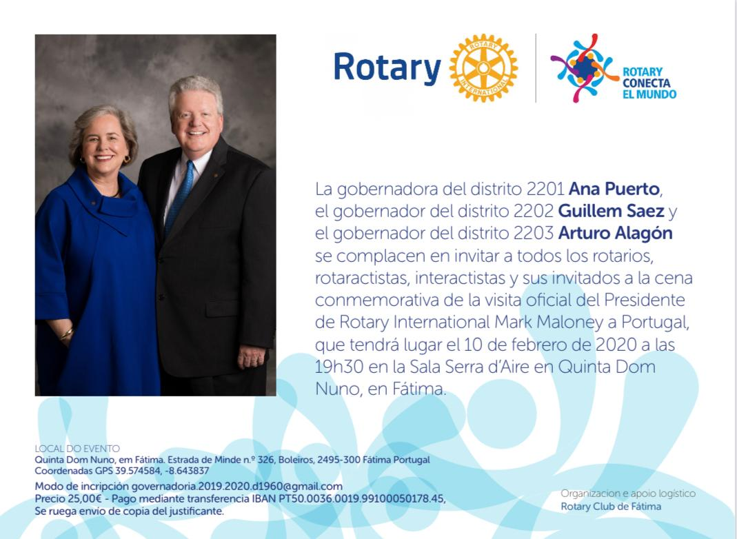 Invitación a la visita de Mark Maloney a Portugal