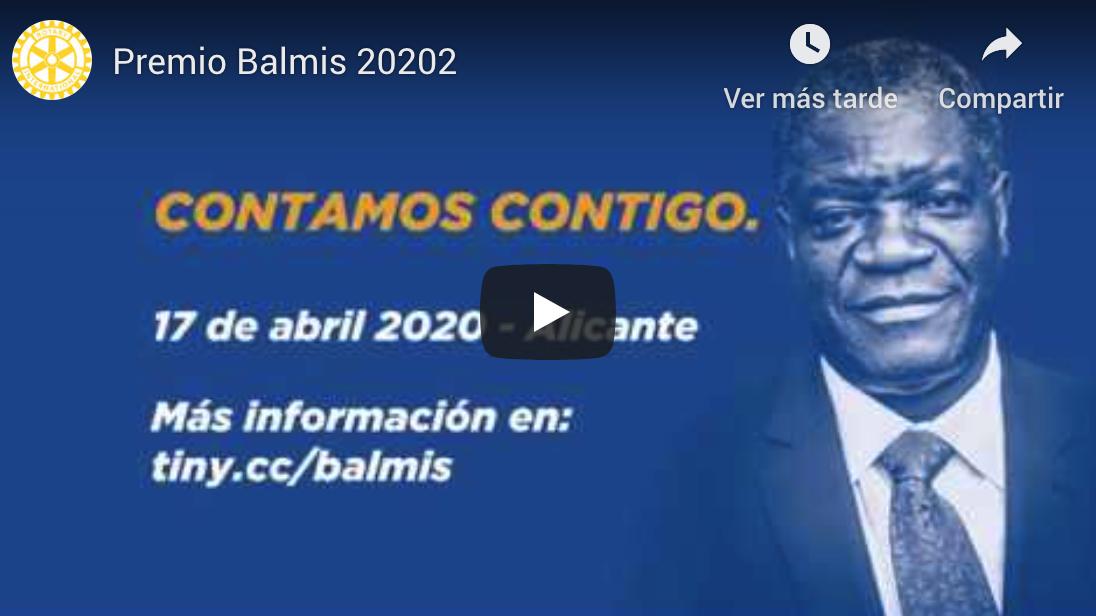 Premio Balmis: Dr. Denis Mukwege, premio Nobel de la Paz