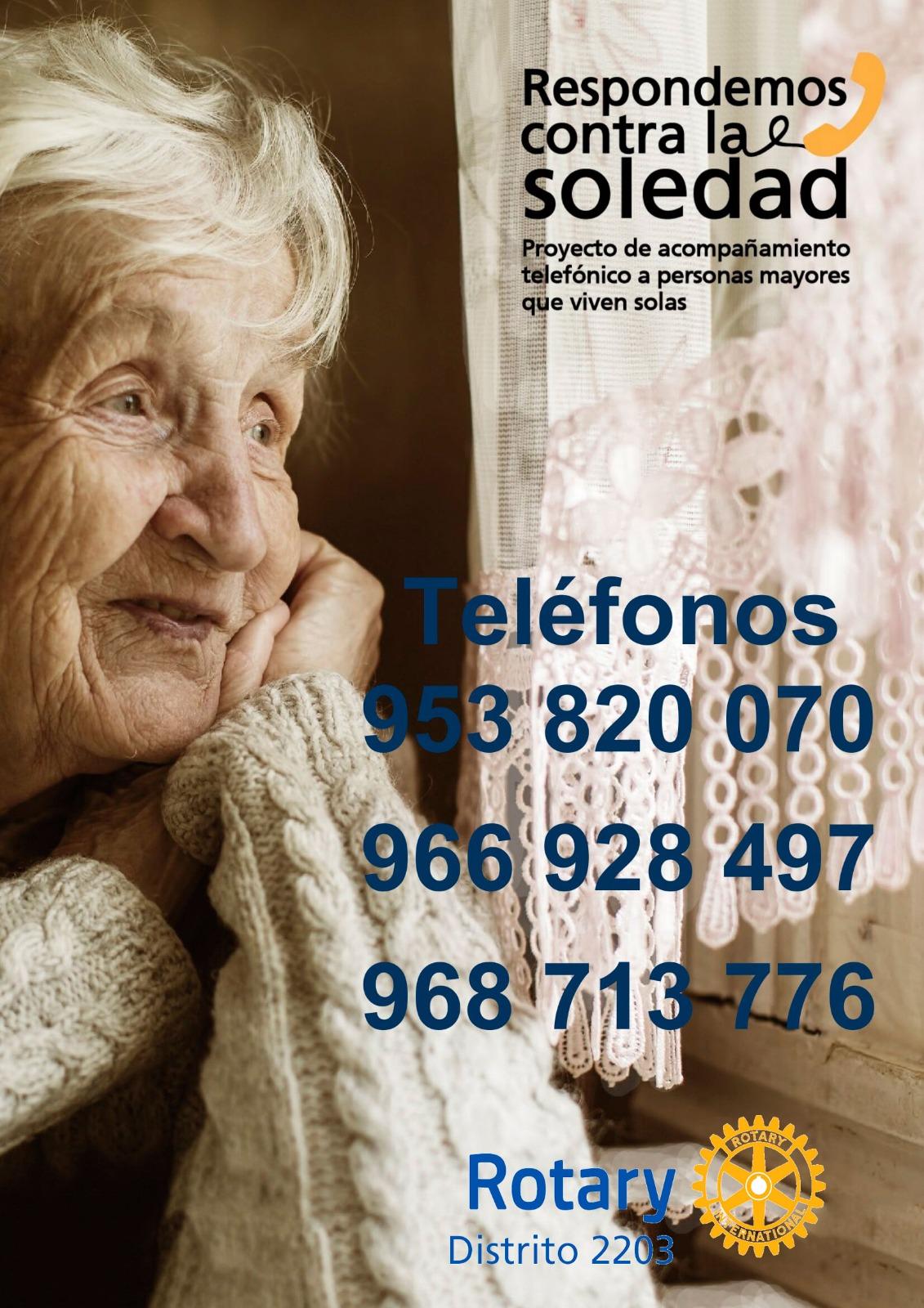 Programa Rotary asistencia telefónica a personas que viven solas