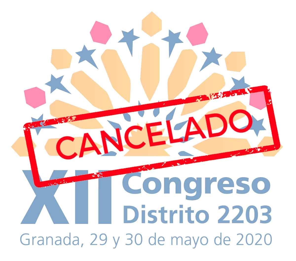 Cancelado el XII Congreso de distrito de Granada