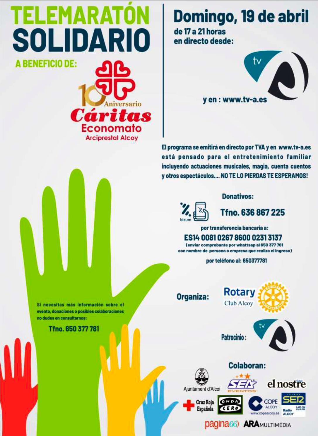 RC Alcoy realiza un telemaratón solidario